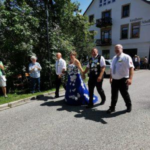 Riesig war auch die Freude über unser mitgereistes Königspaar Pieter Colbers & Rita Steinhausen der St. Johannes Baptist Schützenbruderschaft Waldfeucht nebst Adjudanten.