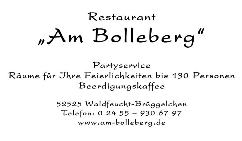 "Restaurant ""Am Bolleberg"""
